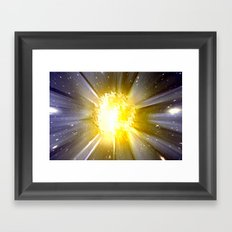 6000 Grad Celsius. Framed Art Print
