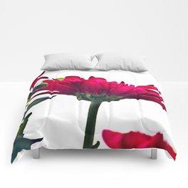 Red Chrysanthemum Flowers Comforters