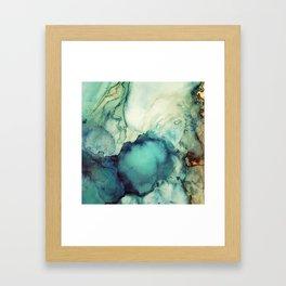 Teal Abstract Framed Art Print