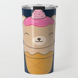 Kawaii Bear Ice Cream Cone Travel Mug