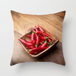 Red hot chilis Throw Pillow