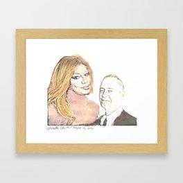 Laverne and Steve Framed Art Print