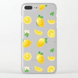 Bittersweet Mellow Bright Yellow Lemon Teeshirt,Yellow sour fruit, High quality lemon pattern, summe Clear iPhone Case