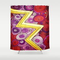 lightning Shower Curtains featuring Lightning by DuckyB