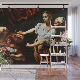 Merisi da Caravaggio - Judith enthauptet Holofernes Wall Mural