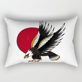 Eagle in the Red Sun Rectangular Pillow