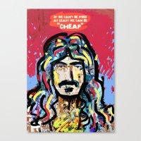 zappa Canvas Prints featuring Zappa by Tolga Hirsova