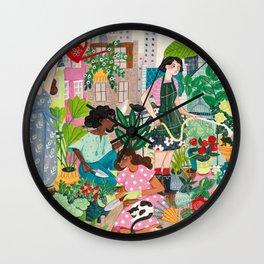 Urban Gardening Wall Clock