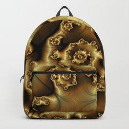 Golden Ginger Fractal Backpack