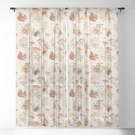 Meadow Friends Sheer Curtain