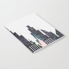 Colorful City Buildings And Skyscrapers Sketch, New York Skyline, Wall Art Poster Decor, New York Notebook