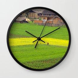 Organic Farm Wall Clock