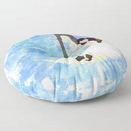 Harp girl 5: Connection Floor Pillow