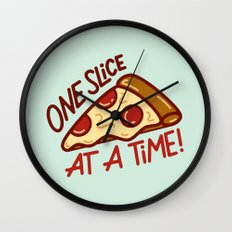 One Slice Wall Clock