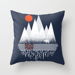 Chill of Winter Throw Pillow