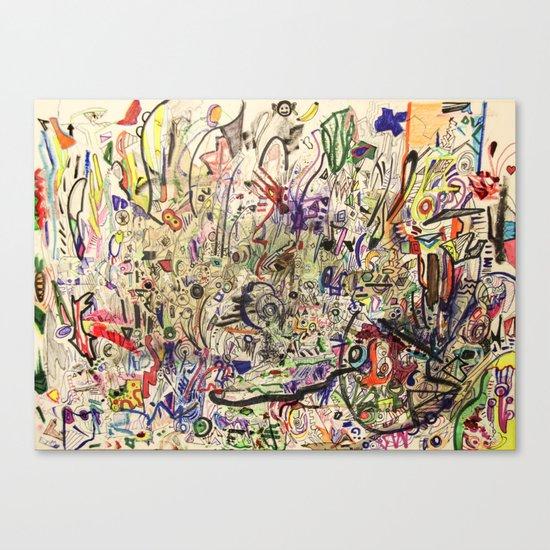 Crowded Canvas Print