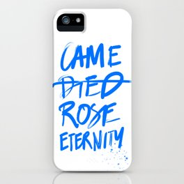 #JESUS2019 - Came Died Rose Eternity (blue) iPhone Case