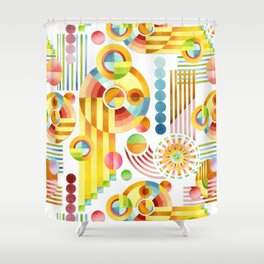 Abstract Art Deco Shower Curtain