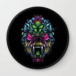 Gorilla color Wall Clock