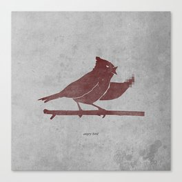 the bird is the f-word Canvas Print