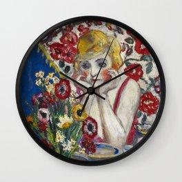"Florine Stettheimer ""Jenny and Genevieve"" Wall Clock"