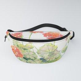 Geranium Watercolor  Fanny Pack