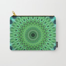 Green and blue mandala Carry-All Pouch