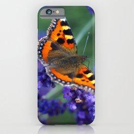 Small Tortoiseshell on Lavender iPhone Case
