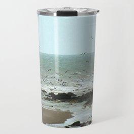 Calais beach, French. Travel Mug