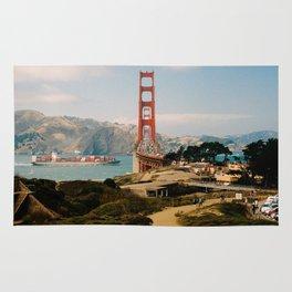 Golden Gate Bridge shot on film Rug