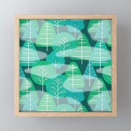 Misty Emerald Forest Framed Mini Art Print