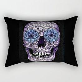 Skull Art - Day Of The Dead 2 Stone Rock'd Rectangular Pillow
