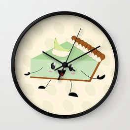 Key Lime Pie Wall Clock