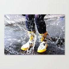Gumboots on a Rainy Day Canvas Print