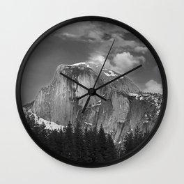 Half-Dome B&W Wall Clock