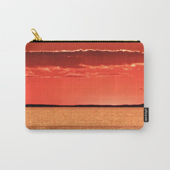 Orange Sky and Sea Carry-All Pouch