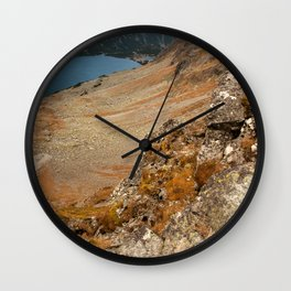 Mountain hiking Wall Clock