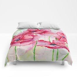 Poppies dance Comforters