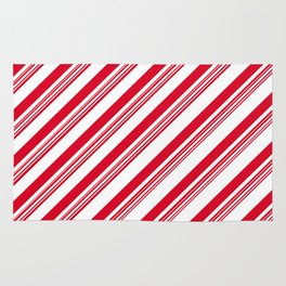 Red Candy Cane Stripes Rug