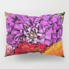 Power Flowers Pillow Sham