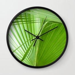 Palm Leaves // Tropical Wall Art, Beach Cottage Decor, Coastal Art Wall Clock