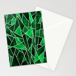 Shattered Emerald Stationery Cards