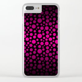 Black to Pink Gradient Colored Circles Clear iPhone Case