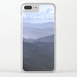 Smoky Mountain Melody - Nature Photography Clear iPhone Case