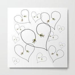 Bee My Heart 2 Metal Print