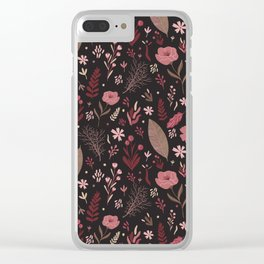 Floral seamless pattern Clear iPhone Case
