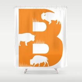 B is for Bison - Animal Alphabet Series Shower Curtain