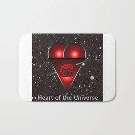 Heart of the Universe, love heart Bath Mat