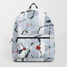 Geometric Mistletoe Holiday Design Backpack