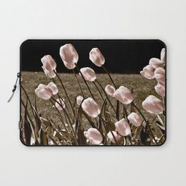 Pink Tulips and Moonlight Laptop Sleeve